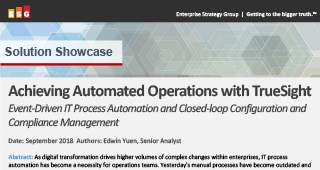 ESG: Achieving Automated Operations with TrueSight