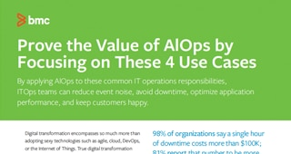 AlOps by Focusing on These 4 Use Cases