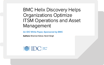 BMC Helix Discovery Helps Organizations Optimize ITSM Operations and Asset Management